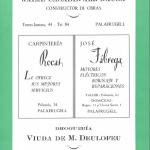 Une annonce de 1956 inclue dans la brochure des festivités de Palafrugell