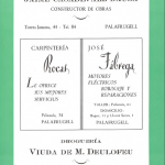 Anunci de 1956 al programa de la Festa Major