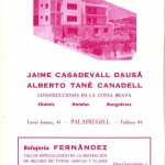 1961 advertisement in a festival program, already with Albert Tané